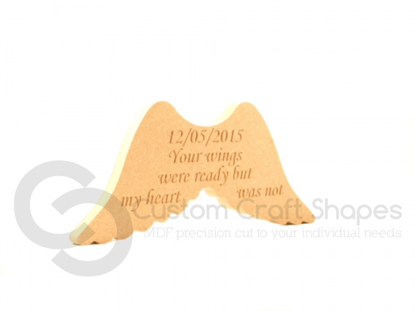Personalised Angel Wings - Your wings were ready... (18mm)