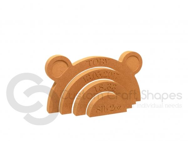 Personalised Bear Rainbow Stacker (18mm)