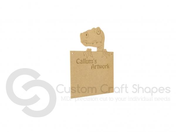 Personalised Dinosaur Plaque (6mm)