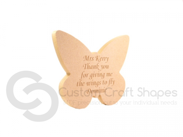 Personalised, Engraved Butterfly - Wings to fly... (18mm)