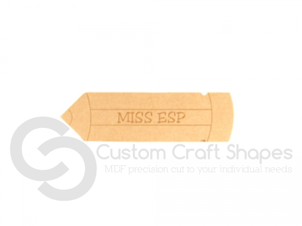 Personalised Engraved Pencil (18mm)