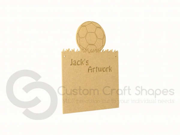 Personalised Football Plaque (6mm)
