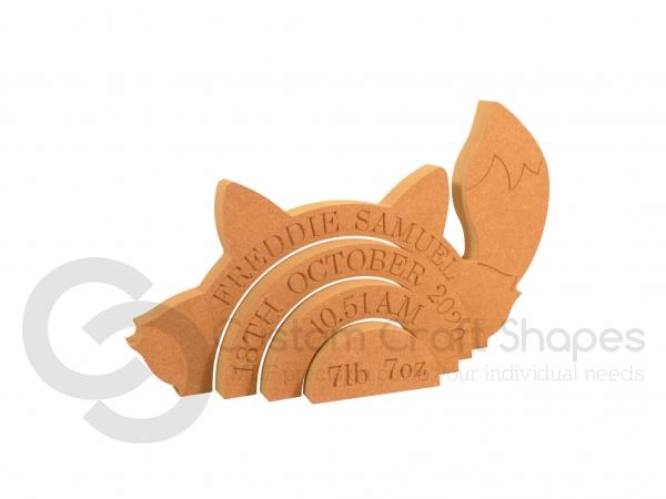 Personalised Fox Rainbow Stacker (18mm)