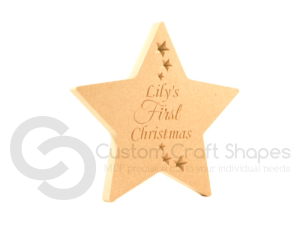 Personalised Freestanding First Christmas Star (18mm)