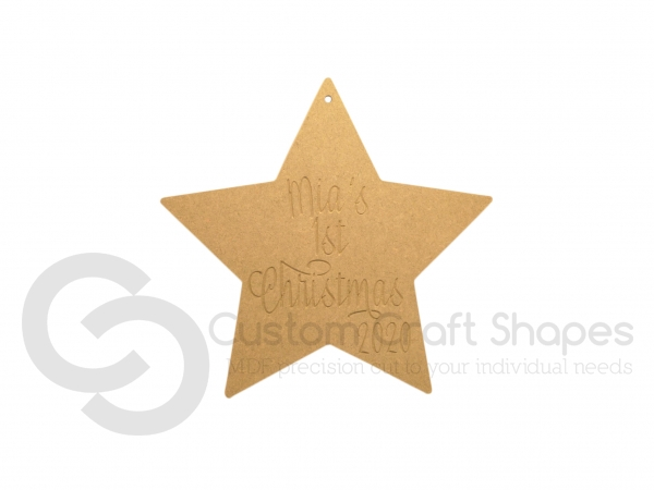 Personalised My First Christmas Star (6mm)