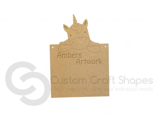 Personalised Unicorn Plaque (6mm)