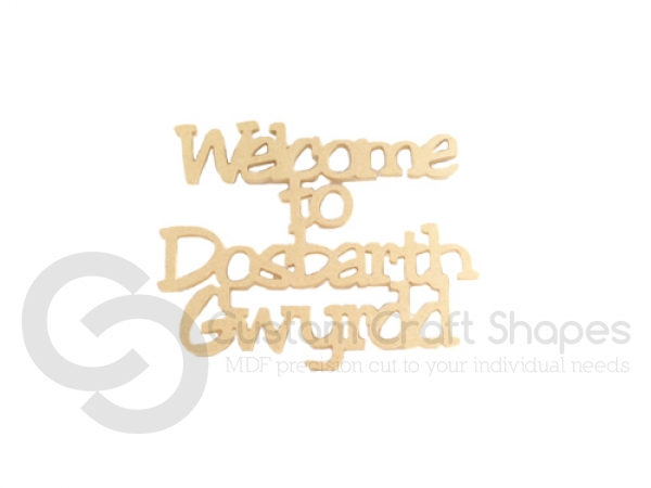 Personalised Welcome to Classroom Sign (6mm)