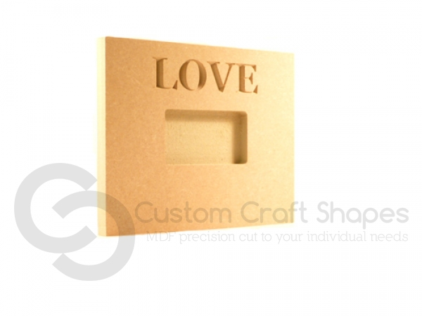 Photo Frame, engraved LOVE (18mm)