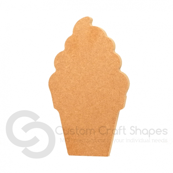 Plain Ice Cream Shape (18mm)