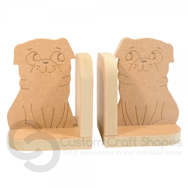 Pug Bookends (18mm)