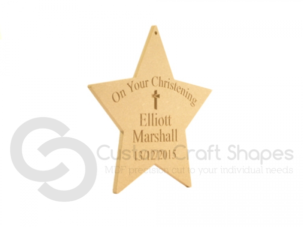 """On Your Christening.."" Engraved star (6mm)"
