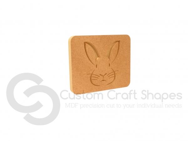 Rabbit Face Plaque (18mm)
