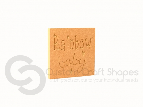 Rainbow Baby Engraved Plaque