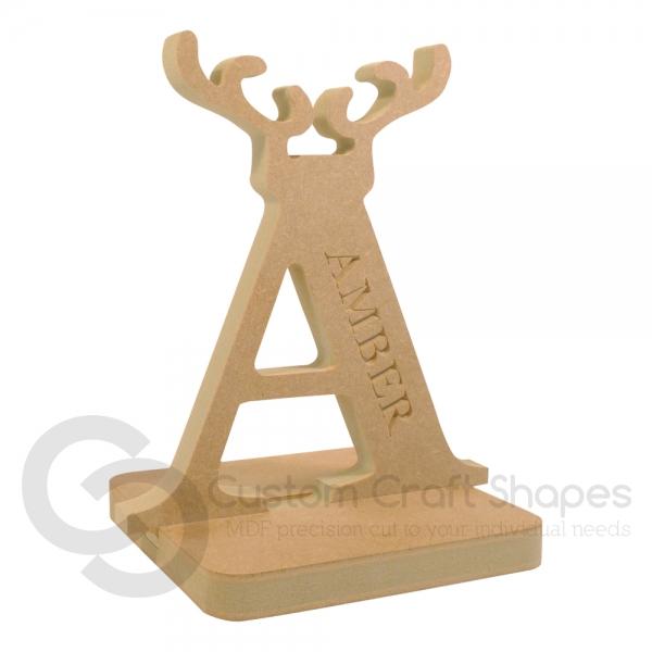 Reindeer Antler Letter Stocking Holder (18mm)