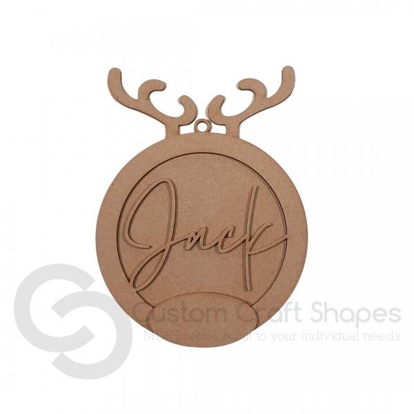 Reindeer Name Bauble