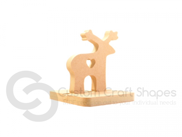 Reindeer with Heart Stocking Holder (18mm)