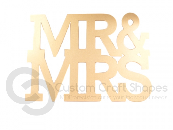 Rockwell Font, MR & MRS, 1 piece (6mm)