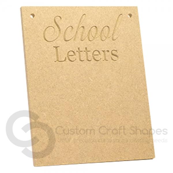 School Letters Plaque (6mm)
