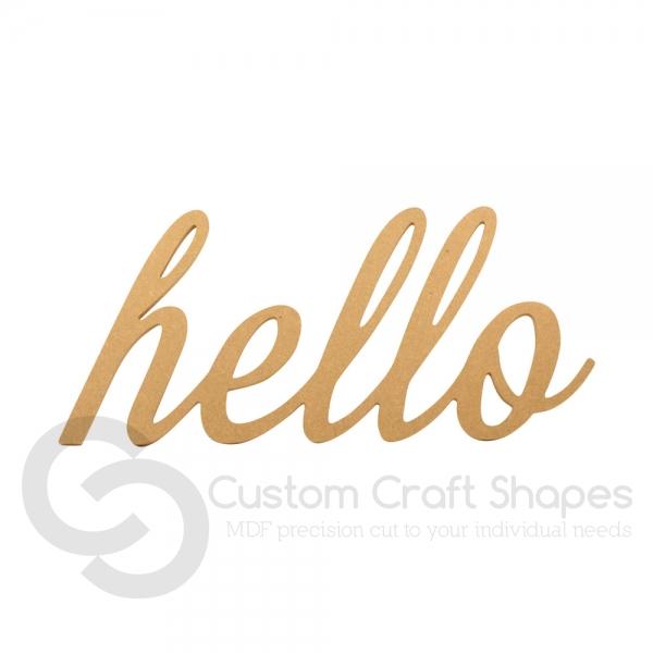 Script font, 'hello' (6mm)