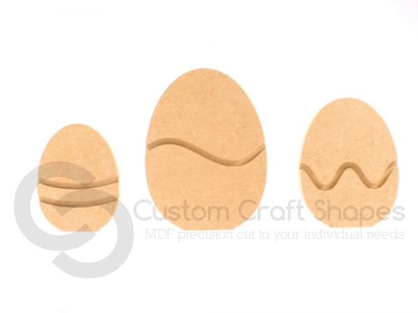 Set of 3 Freestanding Easter Eggs