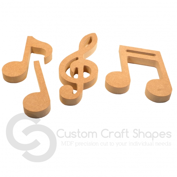 Set of 4 Music Notes (18mm)