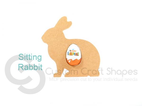Sitting Rabbit Kinder Egg Holder (18mm)