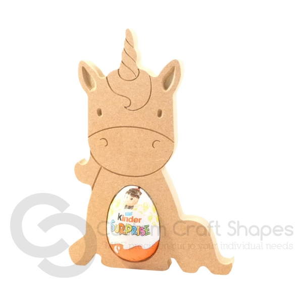 Sitting Unicorn Kinder Egg Holder (18mm)