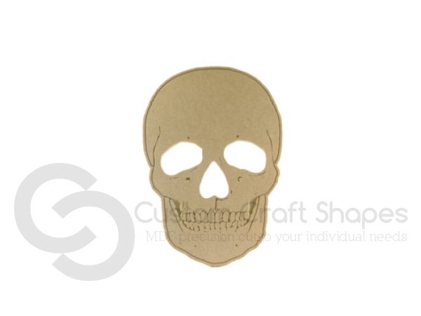 Skull with engraved detail (9mm)