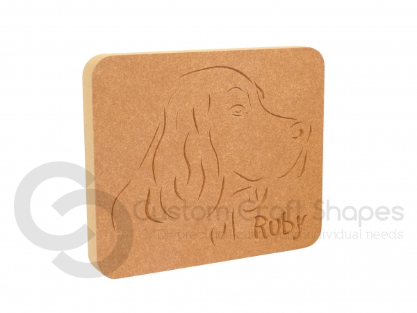 Springer Spaniel Dog Face Plaque (18mm)