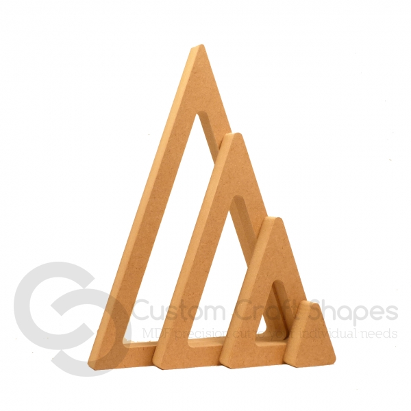 Stackable Triangles, 4 Pieces (18mm)