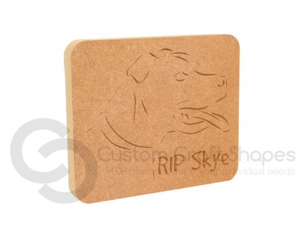 Staffy Dog Face Plaque (18mm)