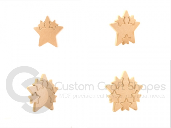 Star with Multiple Interlocking Stars (18mm)