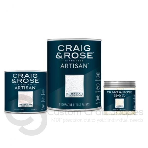 Starlight Silver Glitter Glaze, Craig & Rose