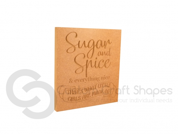 Sugar & Spice... Engraved Plaque (18mm)