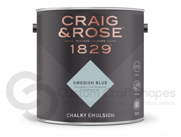 Swedish Blue Chalky Emulsion, Craig & Rose Paint