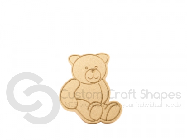 Teddy Bear, Engraved Shape (6mm)