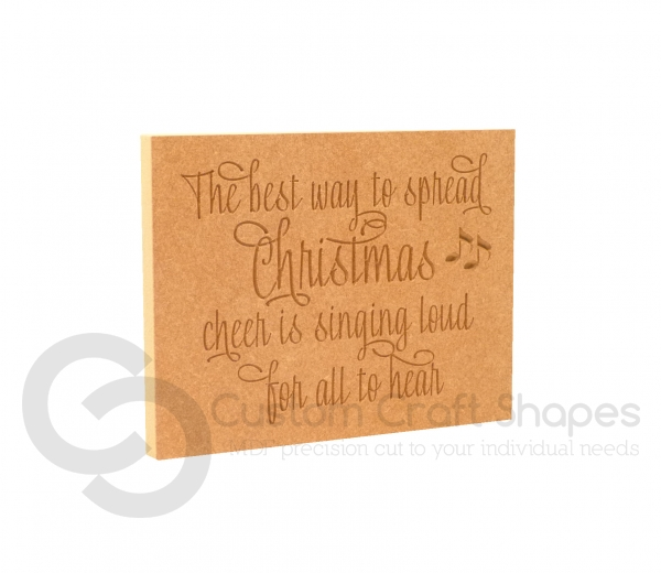 The Best Way To Spread Christmas Cheer..., Engraved Plaque (18mm)