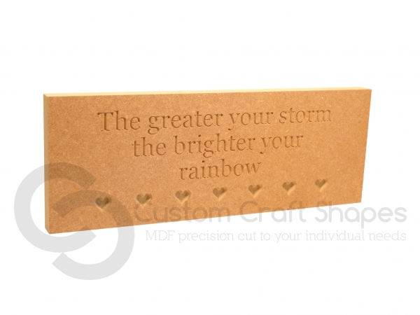 The greater your storm the brighter your rainbow (18mm)