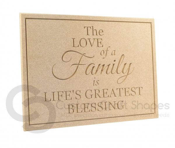 The Love of a Family... Engraved Plaque (18mm)