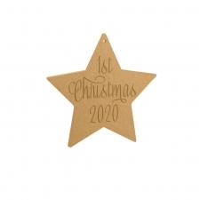 1st Christmas 2020 Star (6mm)