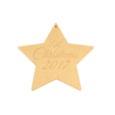 1st Christmas Hanging Star (6mm)