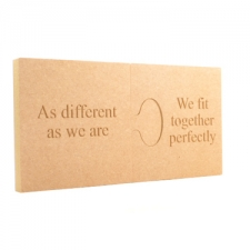 "2 Piece Engraved Jigsaw Puzzle, ""As different.."" (18mm)"