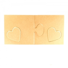 2 Piece Jigsaw with removable Hearts (18mm)