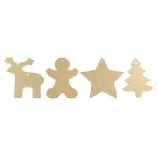 4 x Christmas Decorations (6mm)