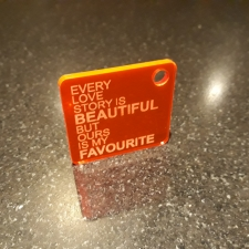 Acrylic Keyring, 'EVERY LOVE STORY...'