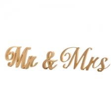 Mr & Mrs, Almibar Font, 3 Pieces (18mm)