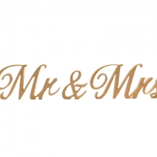 Almibar Font, Mr & Mrs, 3 Pieces (18mm)