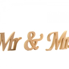 Apple Chancery Font, Mr & Mrs, 3 Pieces (18mm)