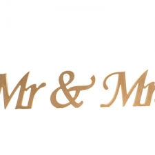 Mr & Mrs, Apple Chancery Font, 3 Pieces (18mm)