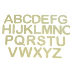 Arial Rounded Font, Individual Capital Letters (6mm)